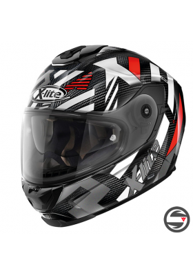 X-903 ULTRA CARBON CREEK 035 BLACK WHITE RED