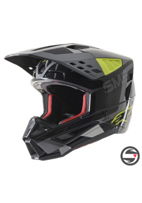 S-M5 ROVER HELMET ECE 1592 BLACK YELLOW GRAY (8303821)