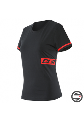 T-SHIRT PADDOCK LADY B78 BLACK LAVA-RED
